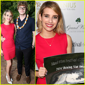Emma Roberts Awarded Shining Star Prize at Maui Film Festival 2014!