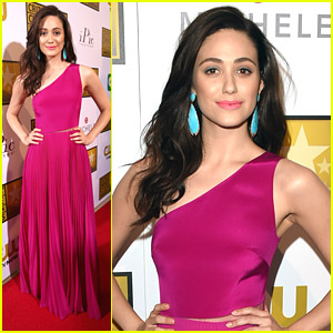 Emmy Rossum Has A Hot Pink Party at Critic's Choice Television Awards