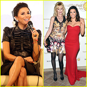 Eva Longoria & Melanie Griffith Are Beautiful BFFs at Taormina Film Fest!