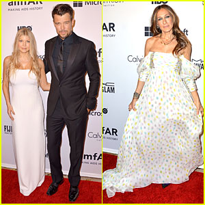 Fergie & Sarah Jessica Parker Are Visions in White at amfAR Inspiration Gala 2014