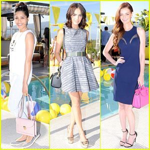 Freida Pinto & Camilla Belle Hang By the Pool with Kate Spade Saturday