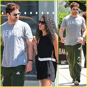 Gerard Butler Enjoys NYC Stroll with Skin Showing Mystery Woman!