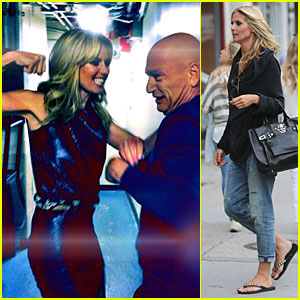 Heidi Klum Looks More Than Ready to Punch Howie Mandel on 'America's Got Talent'!