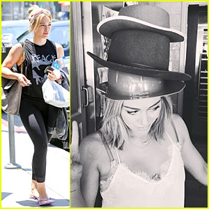 Hilary Duff Gets Hat Inspirations From Pharrell Williams!