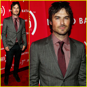 Ian Somerhalder Sports Scruff for 'Eat (RED). Drink (RED). Save Lives.' Launch in NYC!