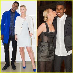Iggy Azalea & Boyfriend Nick Young Are Fashionable Duo for Calvin Klein Collection Runway Show!