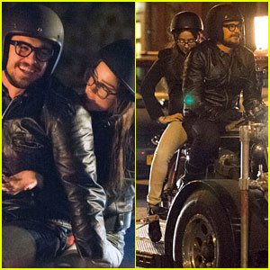 James Franco & Amber Heard Take a NYC Motorcycle Ride for 'The Adderall Diaries'
