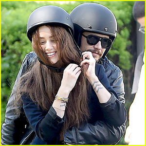 James Franco Wraps His Arms Around Amber Heard for a Motorcycle Ride!