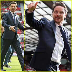 James McAvoy & Jeremy Renner Help Tackle Child Poverty at Soccer Aid 2014!