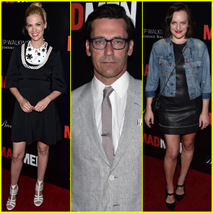 Jon Hamm & January Jones Wrap Up 'Mad Men' with Cast Party!