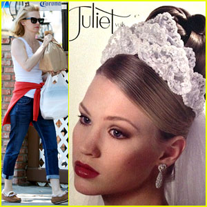 January Jones Poses as a Bridal Model in Throwback Photo!