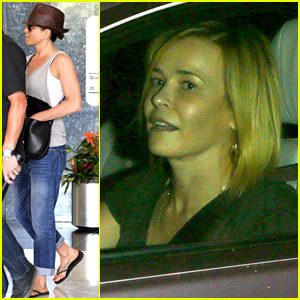 Jennifer Aniston Gets Pampered After Dining with Chelsea Handler
