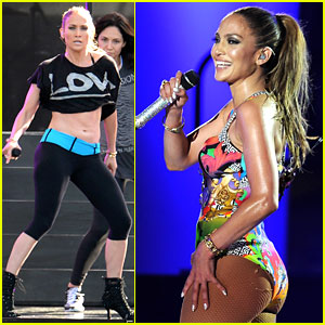 Jennifer Lopez Bares Amazing Abs at iHeartRadio Pool Party!