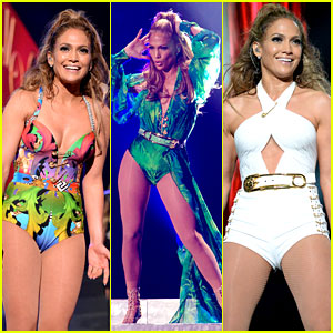 Jennifer Lopez Wears Many Flashy Outfits for Hometown Show!