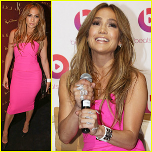 Jennifer Lopez is Lady in Pink for 'A.K.A.' Album Release Party!