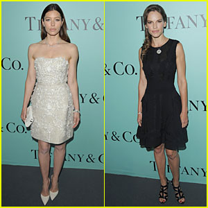 Jessica Biel & Hilary Swank Bring Class to Tiffany & Co. Store Launch!