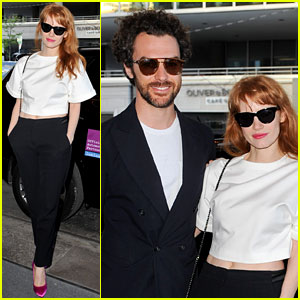 Jessica Chastain & Boyfriend Gian Luca Passi de Preposulo Have Date Night in Toronto!