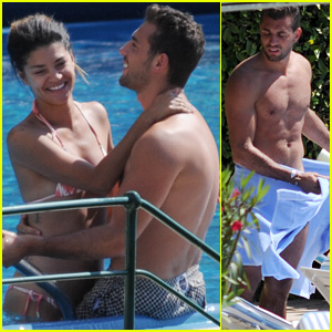 Jessica Szohr & Rumored Beau Tommy Chiabra Get Touchy Poolside in Italy!