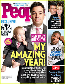 Jimmy Fallon & Adorable Daughter Winnie Wear Matching Suits on 'People' Cover!