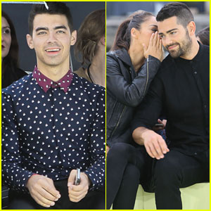Joe Jonas & Jesse Metcalfe Sit Front Row at the Kenzo Show During Paris Fashion Week!