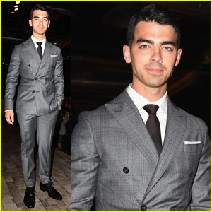 Joe Jonas Attends 'DSquared2' Runway Show After Hanging Poolside with Brand's Founders