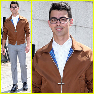 Joe Jonas Goes Nerd Chic for Louis Vuitton Paris Fashion Show
