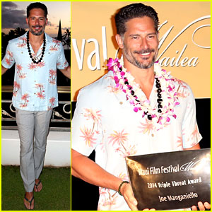 Joe Manganiello Receives Maui Film Fest's Triple Threat Award!