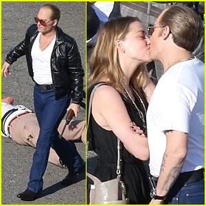 Johnny Depp & Amber Heard Share Romantic Kiss on 'Black Mass' Set!