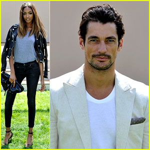 Jourdan Dunn & David Gandy Bring Model Good Looks to Burberry Prorsum Fashion Show!