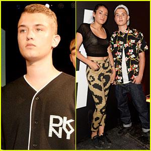 Jude Law's Son Rafferty Walks Runway at DKNY Fashion Show!