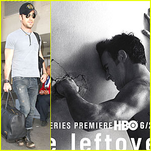 Shirtless & Angry Justin Theroux Punches Wall For 'Leftovers' Poster!