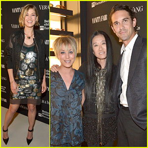 Kaley Cuoco & Pregnant Rosamund Pike Drop by Vera Wang's Store Opening!