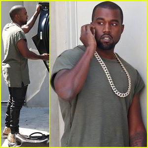 Kanye West Arrives Back at Home After North's Birthday Party