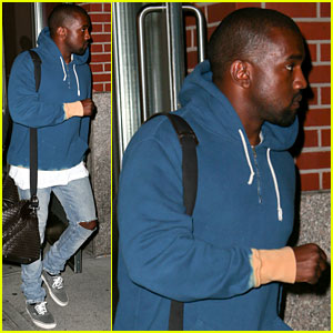 Kanye West Goes Solo for Late Night Father's Day Outing
