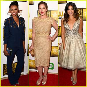 Kat Graham & Gina Rodriguez Present at Critics' Choice Television Awards 2014
