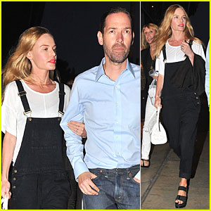 Kate Bosworth & Michael Polish Celebrate Kings Win at BOA Steakhouse!