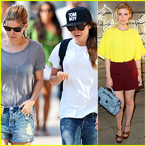 Kate Mara Wears See Through Top to Meet Up with Ellen Page!