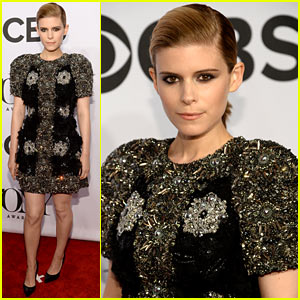 Kate Mara Rocks Intricately Beaded Dress at the Tony Awards 2014