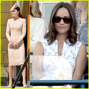 Kate & Pippa Middleton Are Class Acts at Separate Events in England!