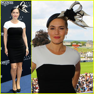 Kate Winslet & Hubby Ned Rocknroll Are One Regal Couple at Prix de Diane Longines 2014