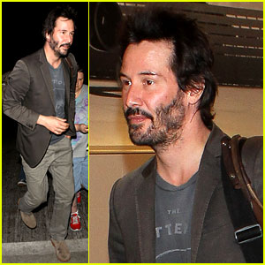 Keanu Reeves Gets Swarmed By Fans at LAX Airport