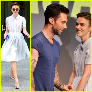 Keira Knightley Can't Stop Laughing When with Adam Levine