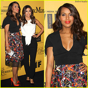 Kerry Washington & Eva Longoria Make Waves at Crystal & Lucy Awards 2014