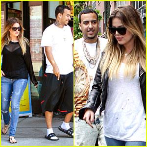 Khloe Kardashian & Boyfriend French Montana Make a Dunkin' Donuts Pit Stop!