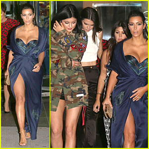 Kim Kardashian's Cleavage Is On Full Display For Khloe's 30th Birthday Dinner!