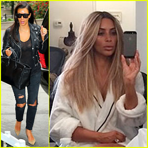 Kim Kardashian Goes Back to Blonde Hair - See Her New Look!