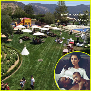 Kim Kardashian & Kanye West Throw North a 'Kidchella' Themed First Birthday Party - See the Pics!