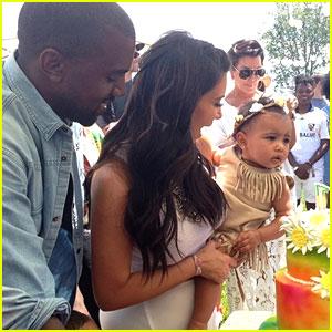 Kim Kardashian Shares Photo of Baby North at Birthday Party!