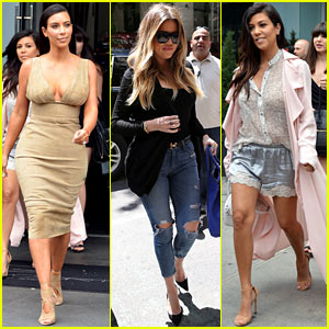 Kim, Khloe, & Kourtney Kardashian Have Lunch Together in NYC!