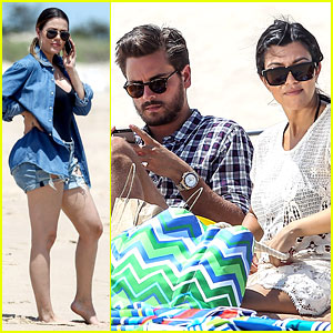 Kourtney Kardashian & Scott Disick Hit the Beach Amid Breakup Reports